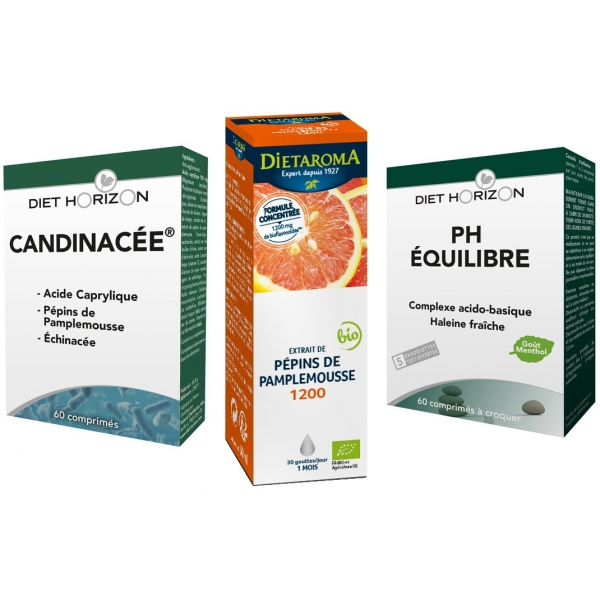 Pack Candida - Candinacee - Ph équilibre - Pamplemousse
