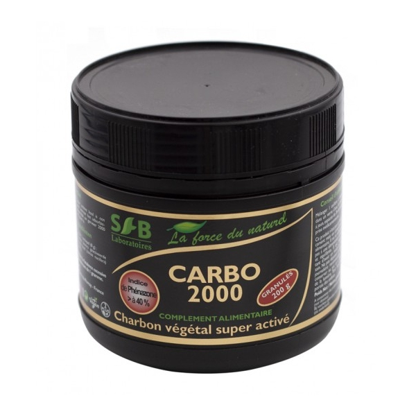Carbo 2000 Charbon Super active Granules 200 g SFB