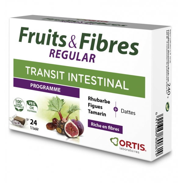 Fruits et Fibres Regular - 24 cubes Ortis