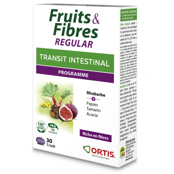 Fruits et Fibres Regular - 30 comprimes Ortis