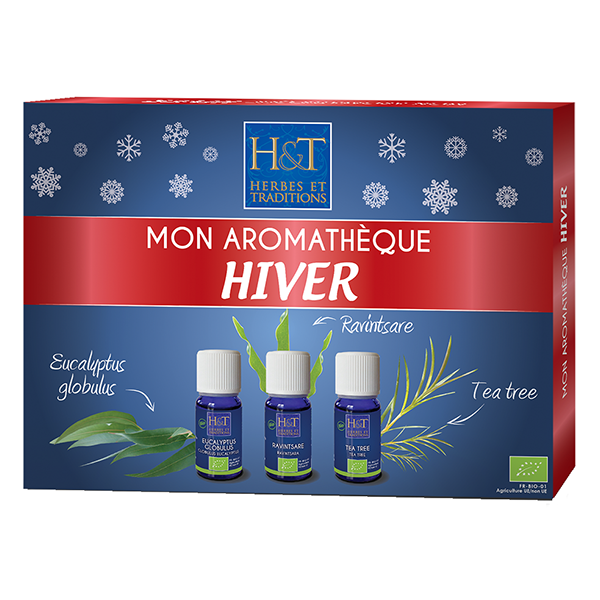 Coffret aromatheque Hiver - 3 huiles essentielles 10 ml Herbes Traditions