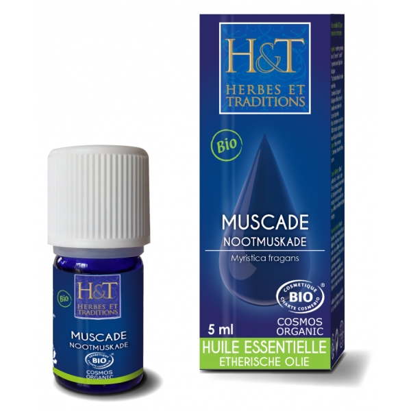 Muscade Noix - Huile essentielle Bio 5 ml Herbes Traditions