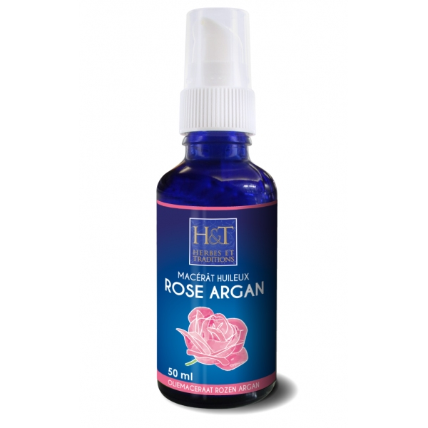 Rose de Damas - Argan -  Huile Vegetale 50 ml Herbes Traditions