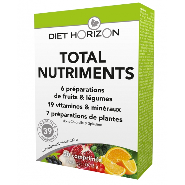 Total Nutriments - 30 comprimes Diet Horizon