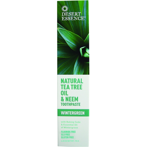 Dentifrice Bio Arbre a the Neem Tube 176g Desert Essence
