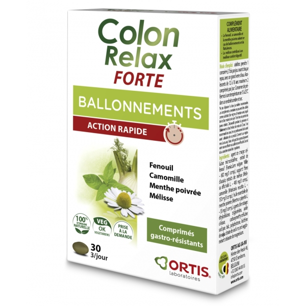 Colon Relax Forte - 30 comprimes Ortis
