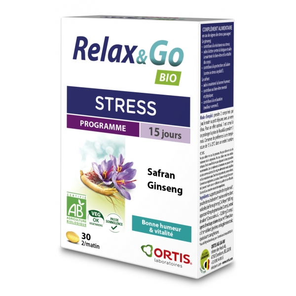 Relax and Go Bio Stress - 30 comprimes Ortis