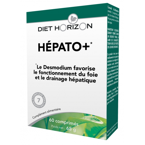 Hepato plus - Desmodium 60 comprimes Diet Horizon