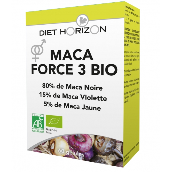 Maca Force 3 bio - 60 gelules Diet Horizon