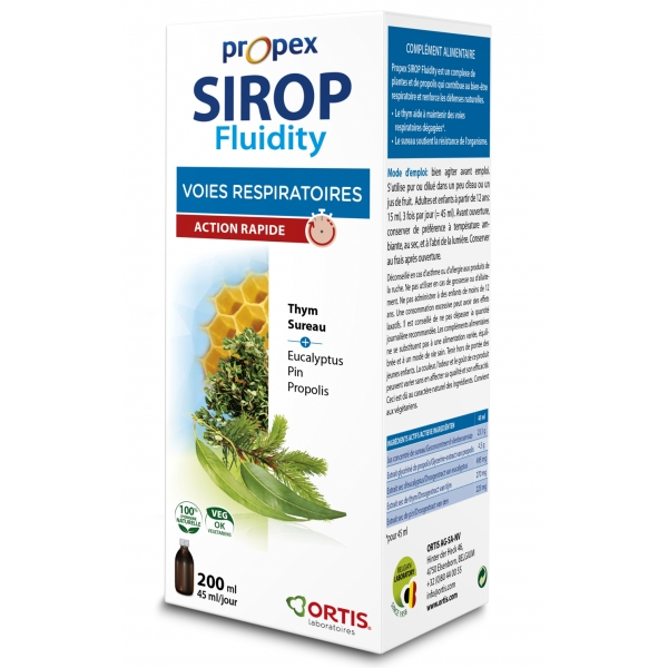 Sirop Fluidity - Propex 200 ml Ortis