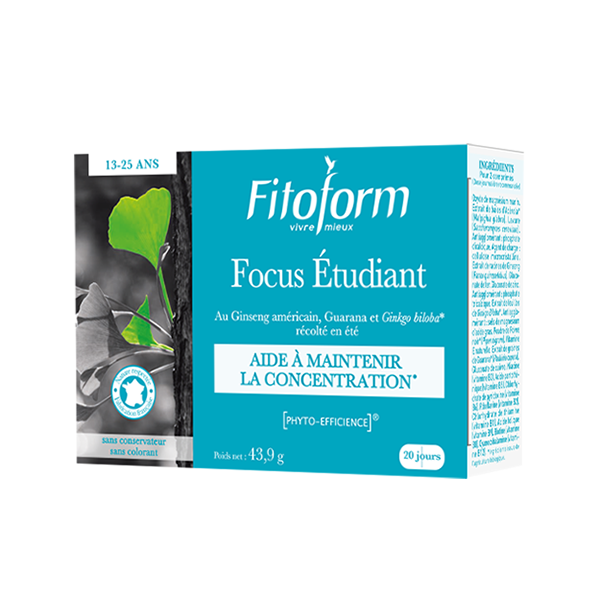 Focus Etudiant - Concentration 40 comprimes Fitoform