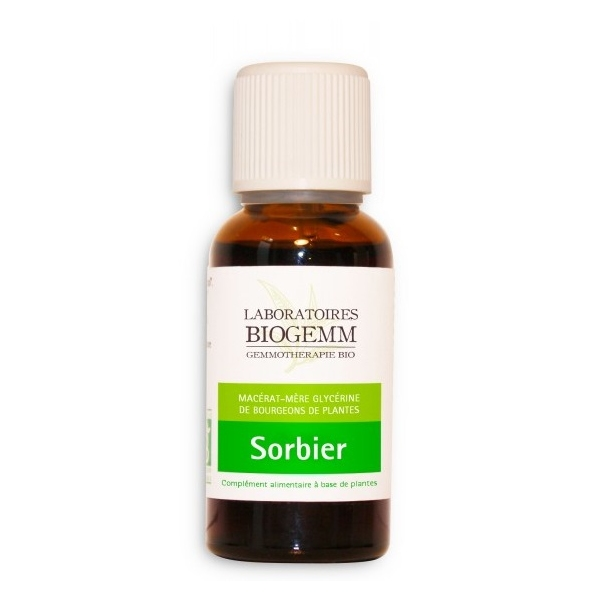 Sorbier Bio Bourgeon - Flacon 30ml Biogemm