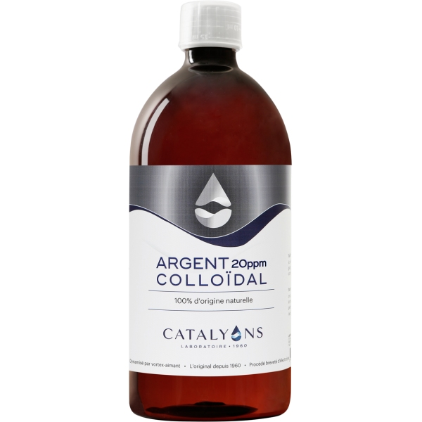 Argent colloidal - Flacon 1 litre Catalyons