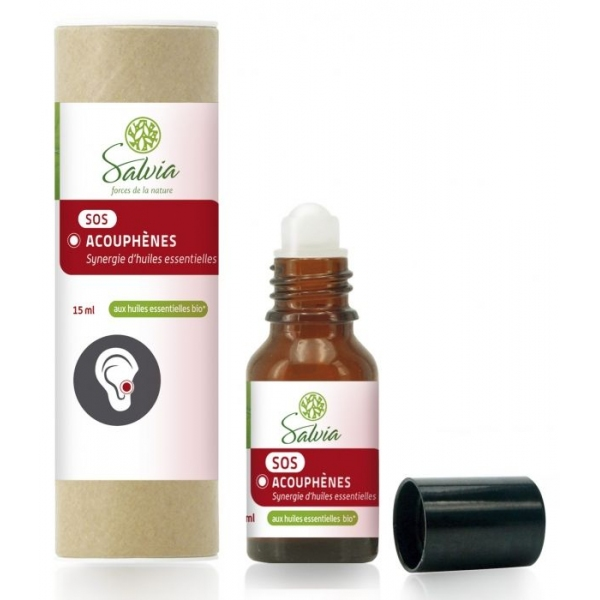 SOS Acouphenes - Huiles essentielles bio Roll on 15 ml Salvia