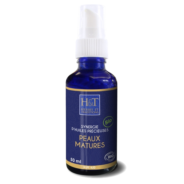 Peaux Matures - Synergie 4 huiles vegetales Bio - 50ml Herbes Traditions