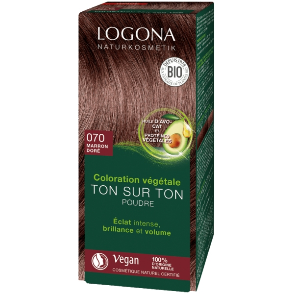 Coloration henne bio - Marron doree 100g Logona