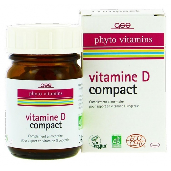 Vitamine D compact - 120 comprimes GSE