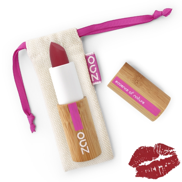 Rouge a Levres Rouge pourpre - Soft Touch 436 - Zao make up