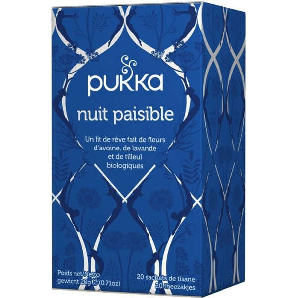 Infusions Nuit Paisible Bio - 20 sachets Pukka