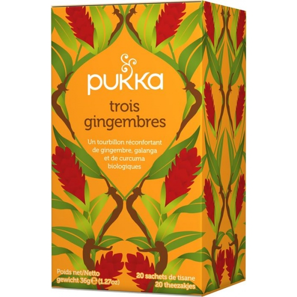 Infusions 3 Gingembres Bio - 20 sachets Pukka