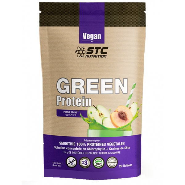 Green Protein - Smoothies Proteines vegetales - STC nutrition