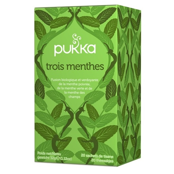 Infusions 3 Menthes Bio - 20 sachets Pukka
