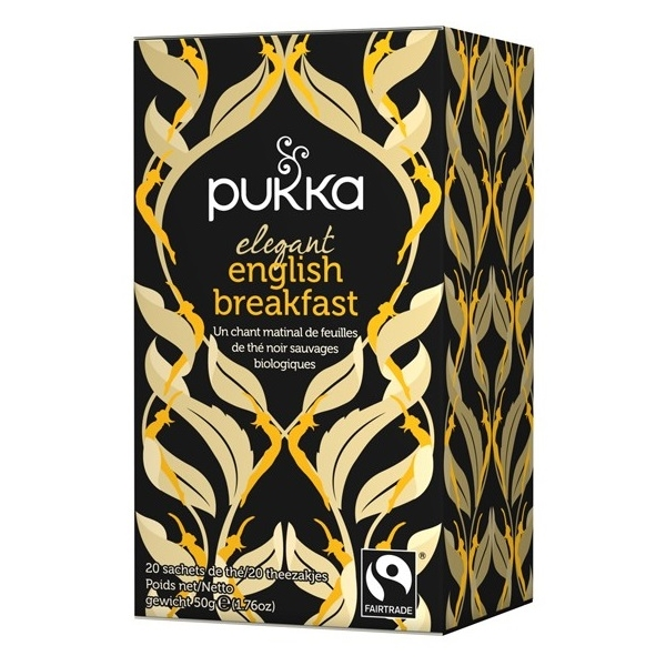 The noir elegant English breakfast - 20 sachets Pukka