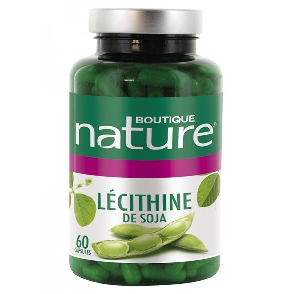 Lecithine de Soja huileuse - 60 capsules Boutique nature