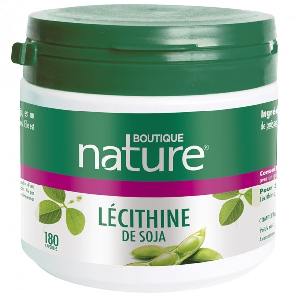 Lecithine de Soja huileuse - 180 capsules Boutique nature