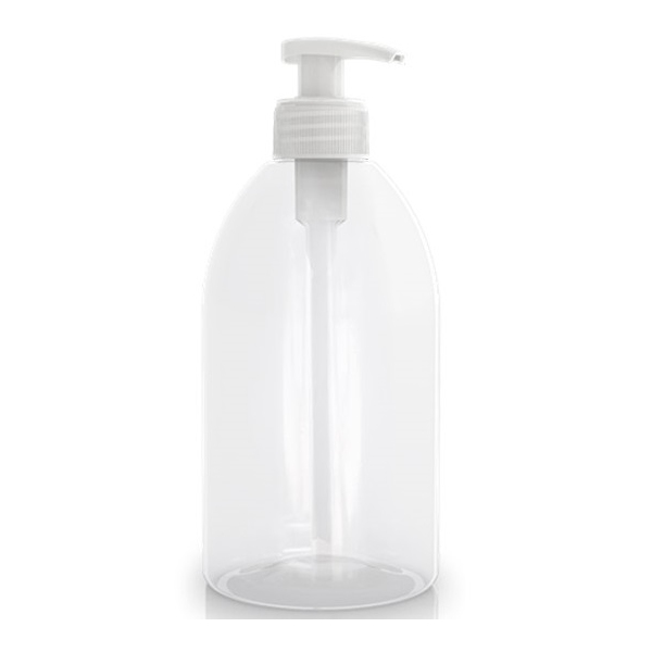 Flacon vide PET transparent - Pompe 500 ml