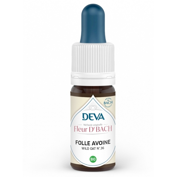Folle avoine - Wild oat Fleur de Bach N°36 Flacon 10ml Deva