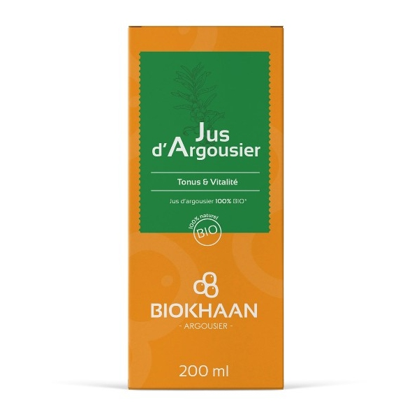 Argousier Jus bio - Flacon 200 ml Biokhaan