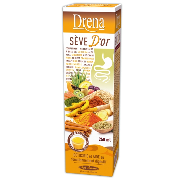 Drena Seve Or - Flacon 250 ml Api-nature
