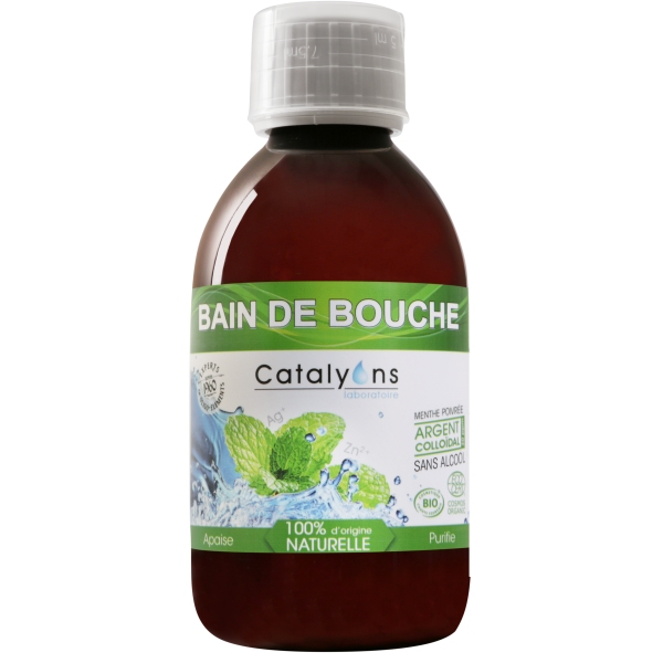 Argent colloidal - Bain de bouche - Flacon 250 ml Catalyons