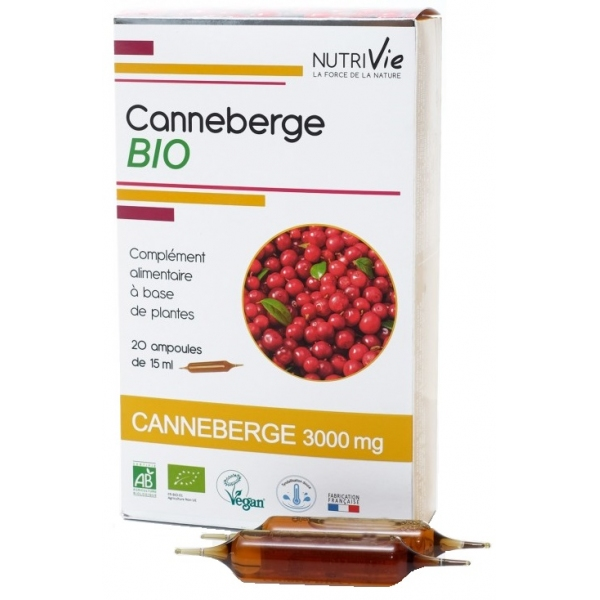 Canneberge - Cranberry Bio - 20 ampoules Nutrivie