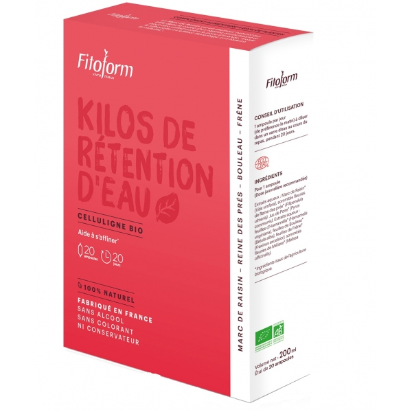 Kilos Retention d'eau - Celluligne - 20 ampoules Fitoform