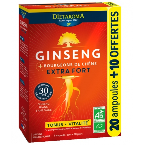 Ginseng Bio Extra fort - 30 ampoules Dietaroma
