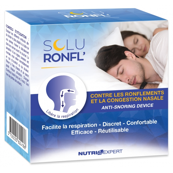 Soluronfl - 4 embouts Nasal Anti-ronflements