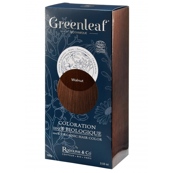Coloration vegetale Bio Chatain - Walnut - Greenleaf