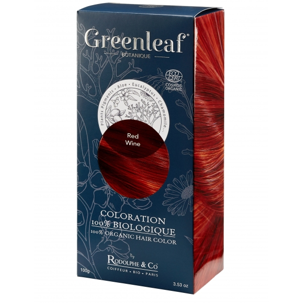 Coloration vegetale Bio Rouge - Redwine - Greenleaf