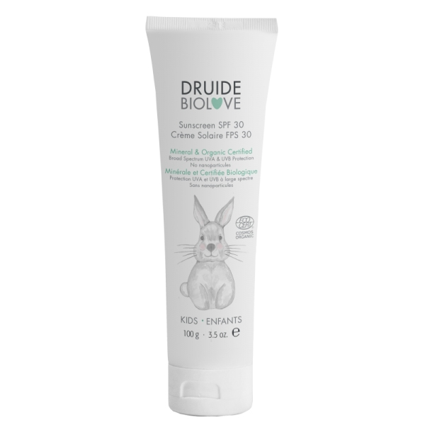 Creme protection Solaire Bebe SPF 30 Biolove - Tube 100g Druide