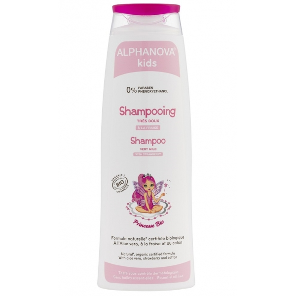 Shampoing Bio princesse - Flacon 250 ml Alphanova Kids