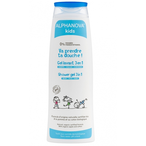 Va prendre ta douche Bio - Flacon 250ml Alphanova Kids