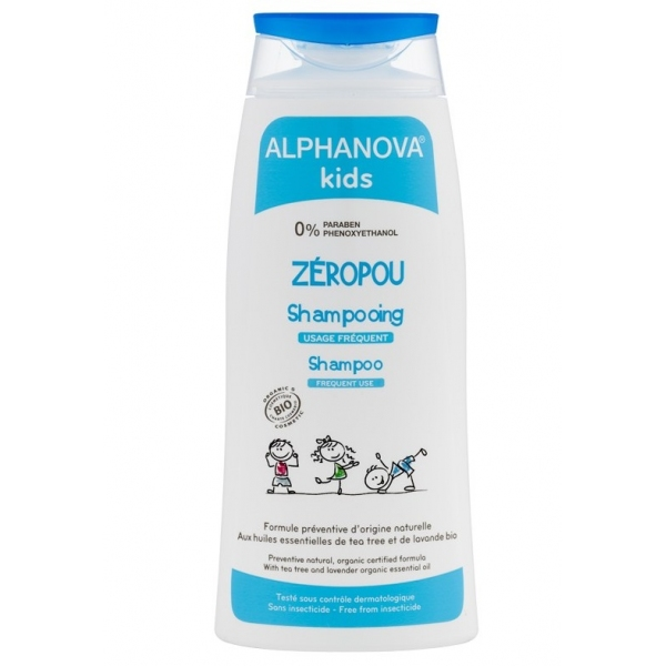 Zeropou - Shampoing anti-poux Bio - Flacon 200ml Alphanova Kids