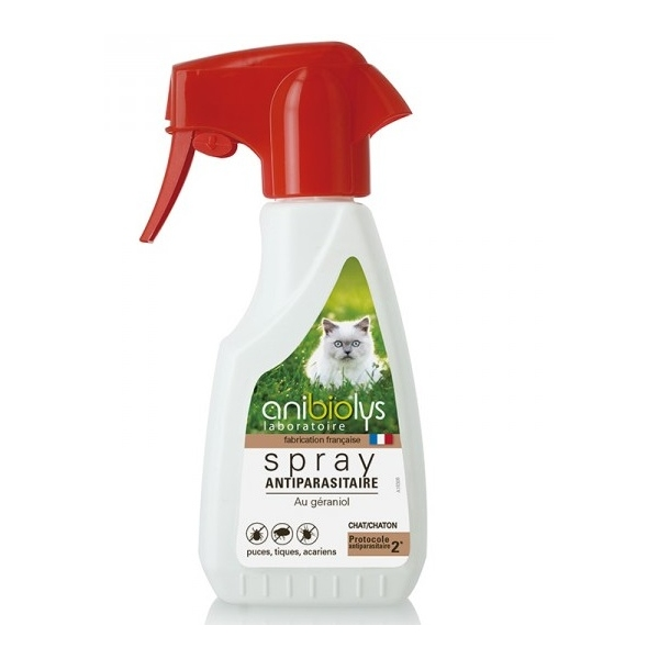 Antiparasitaire Chat - Spray 250 ml Anibiolys
