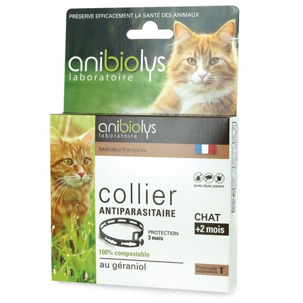 Collier Antiparasitaire Chat - Anibiolys