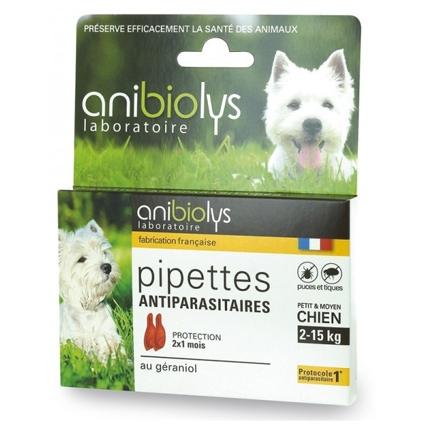 Pipettes Antiparasitaires petit-moyen Chien - Anibiolys