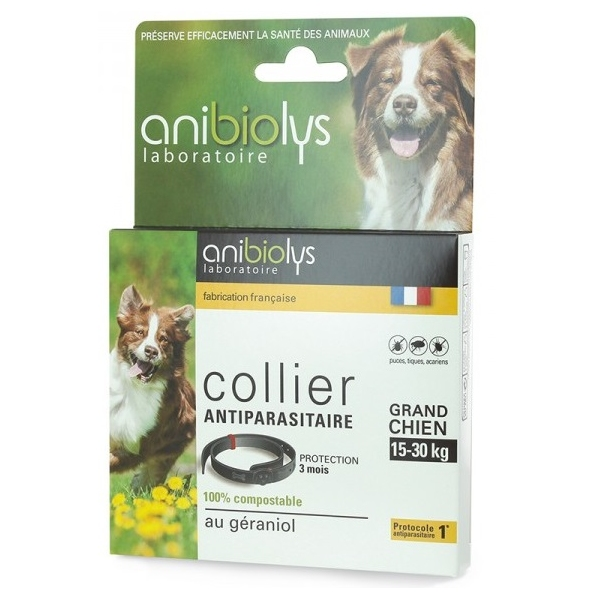 Collier Antiparasitaire grand Chien - Anibiolys