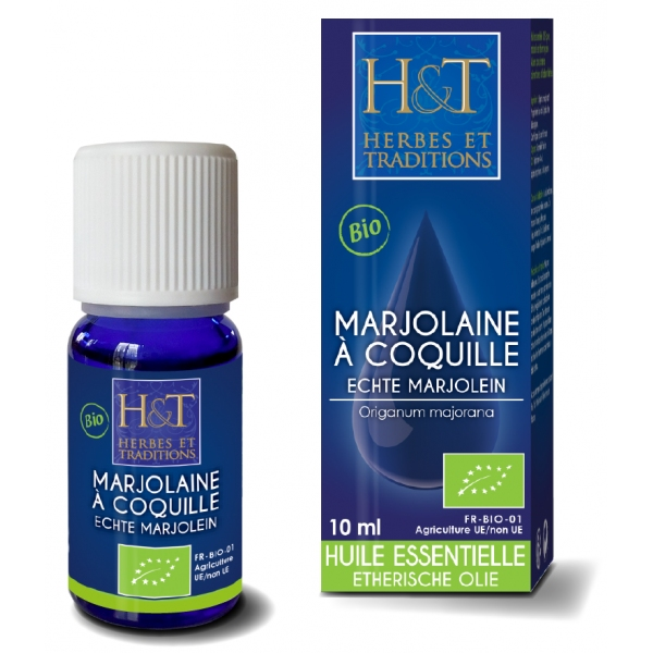 Marjolaine coquille Bio - Huile Essentielle 10ml Herbes traditions