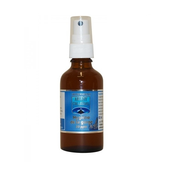 Argent colloidal - Spray gorge 60 ml Vecteur energy